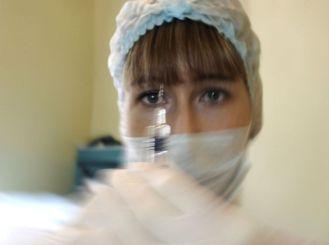 Flu vaccination in Volgograd, Russia