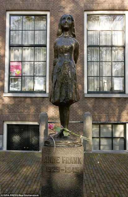 A Jewish employee at Anne Frank House (pictured) could not believe his ears when his bosses banned him from wearing a skullcap at work